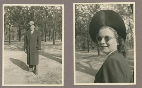 Album(seite) aus einem Flohmarktkonvolut. Ausflug in den Prater. Mai 1945.