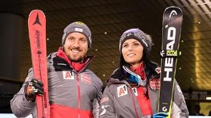 Marcel Hirscher und Anna Veith