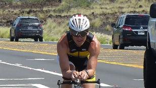 Ö3-Nachrichtenredakteur Thomas Srb auf dem Rad auf Hawaii