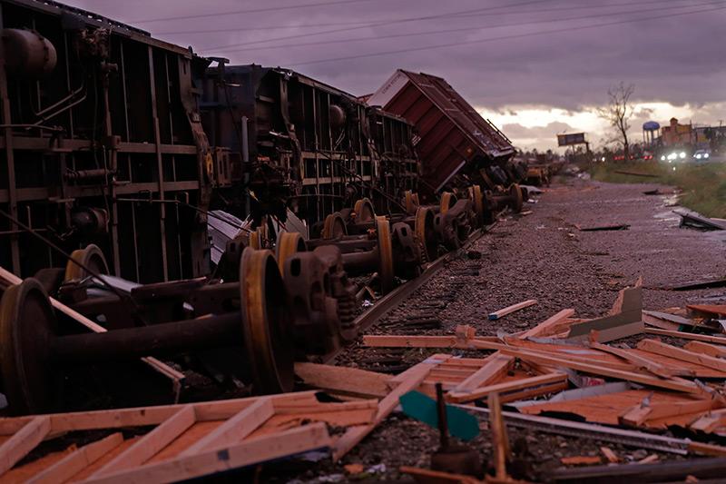 Umgestürzte Züge in Florida