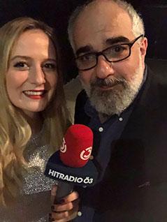 Ö3-Reporterin Tina Ritschl mit Michael Niavarani