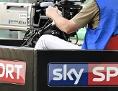 Eine Sky-Sport-Kamera bei einem Spiel Fußballbundesliga