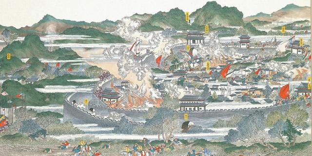 Gemälde über die Schlacht von Anqing aus 1884
