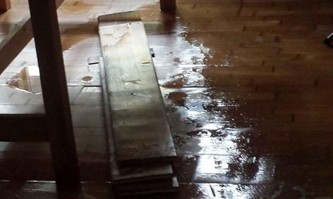 Wassereinbruch in Wohnung
