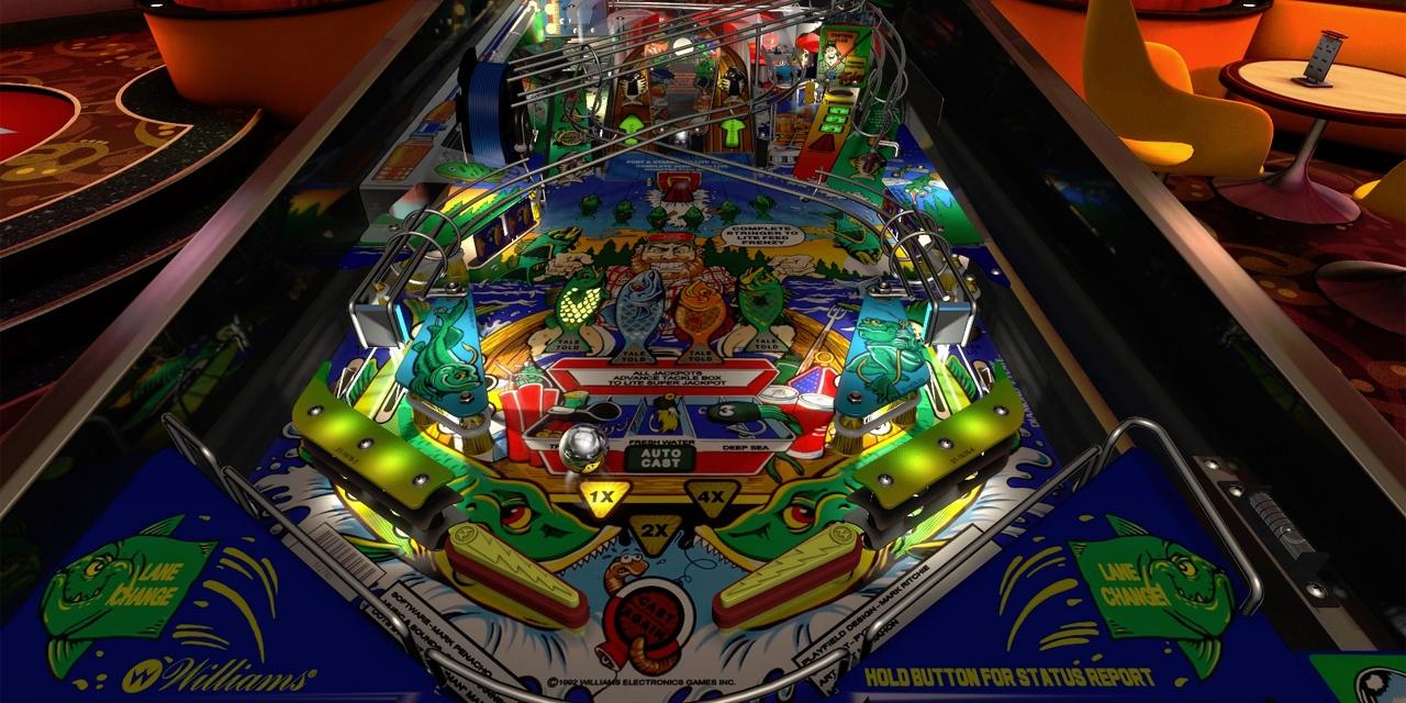 """Der Flipper """"Fish Tales"""", nachgebaut von Zen Studios in """"Pinball FX3""""."""