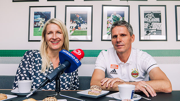 Claudia Stöckl und Didi Kühbauer