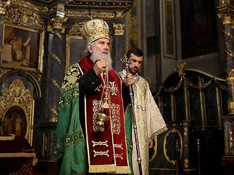 Der serbisch-orthodoxe Patriarch von Belgrad, Irinej
