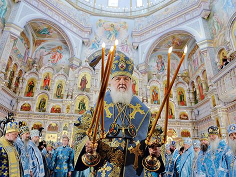 Patriarch Kyrill von der russisch-orthodoxen Kirche des Moskauer Patriarchats