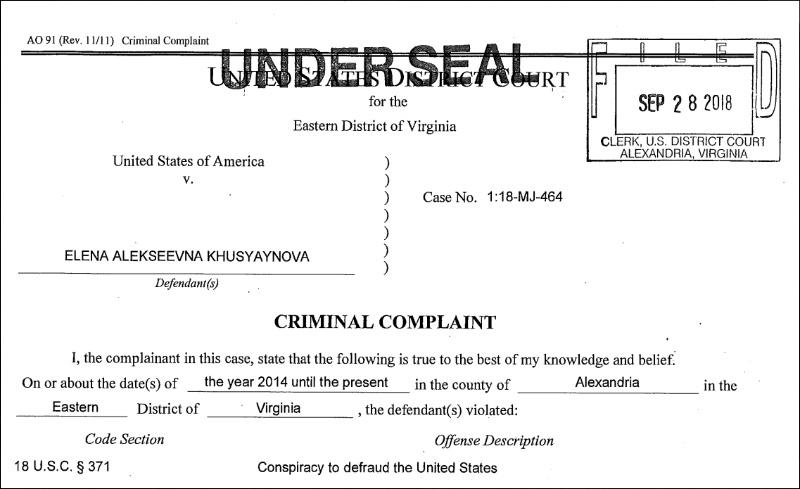 Khusyayova Indictment