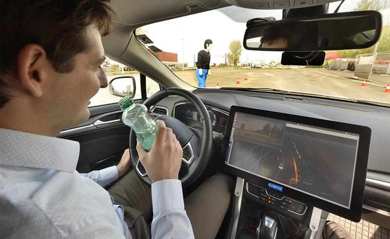 Fahrt mit einem selbstfahrenden Auto