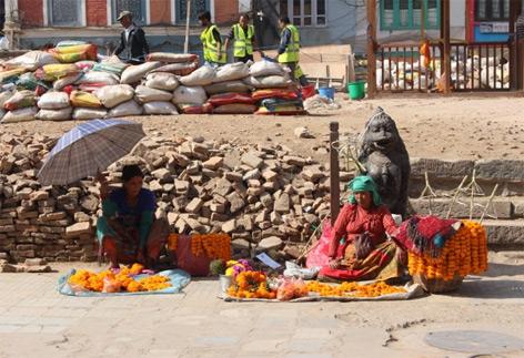 Wiederaufbau in Kathmandu