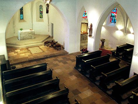 Innenansicht der Ruprechtskirche in Wien