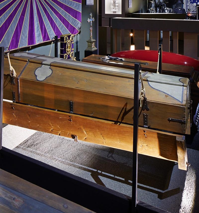 coffins at the undertaker's museum bestattungsmuseum vienna wien
