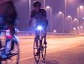 Radfahrer bei Nacht
