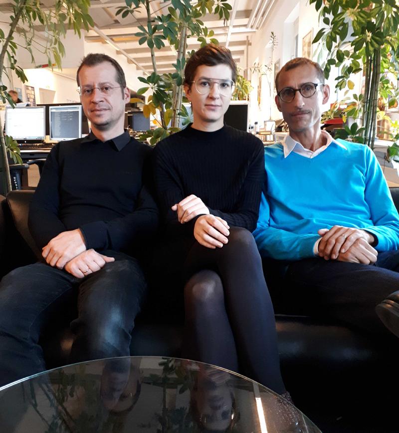 Benjamin Grilj, Madlyn Miesgang und Michael Rieper