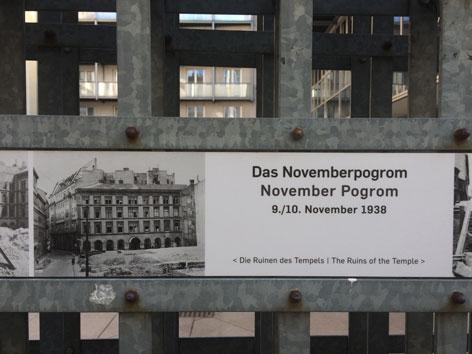 Jüdischer Tempel Wien Ruinen November Pogrom 80 Jahre