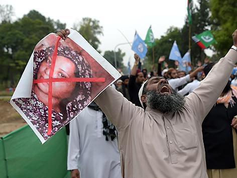 Protest gegen die Aufhebung des Todesurteils gegen Asia Bibi in Islamabad, Pakistan
