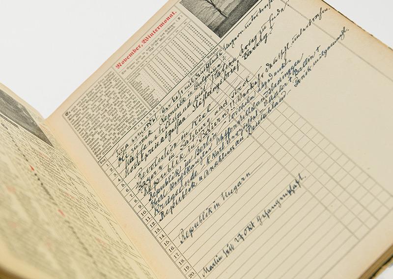Kalendereintrag von Sigmund Freud
