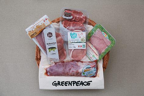 Abgepacktes Schweinefleisch