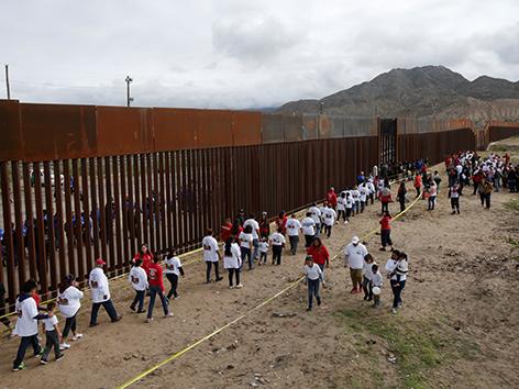 Der Grenzzaun zwischen USA und Mexiko