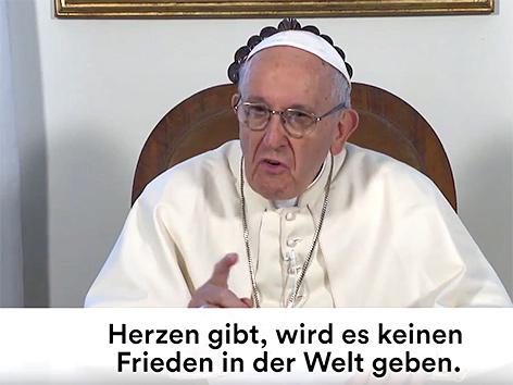 Der Papst in einer Videobotschaft auf Youtube