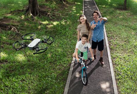Drohne schießt Selfie aus der Luft