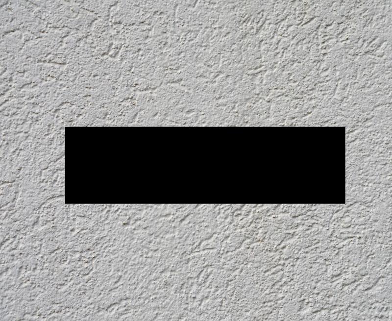 Schwarzer Balken auf Wand