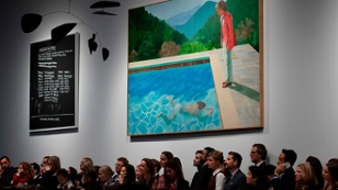"""Gemälde """"Pool mit zwei Figuren"""""""