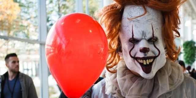 "clown aus ""IT"" auf der vienna comic con"
