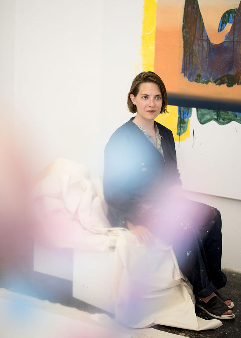 Titania Seidl in ihrem Atelier