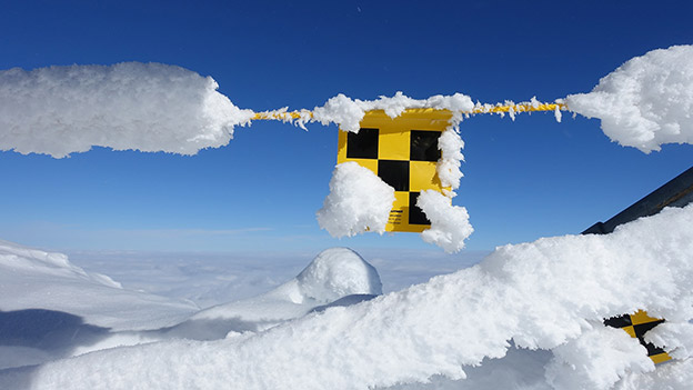 Absperrung im Schnee