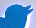 Twitter-Logo auf einer Hauswand