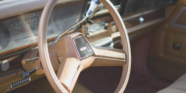 Armatur eines alten Autos