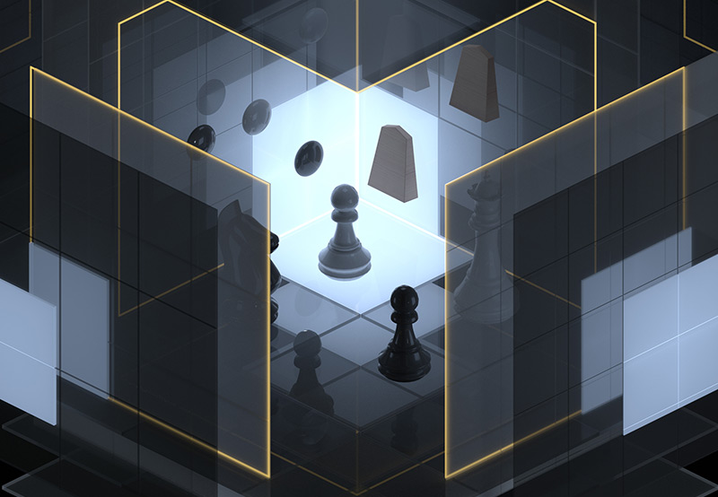 Künstliche Intelligenz: Spielfiguren von Schach und Go