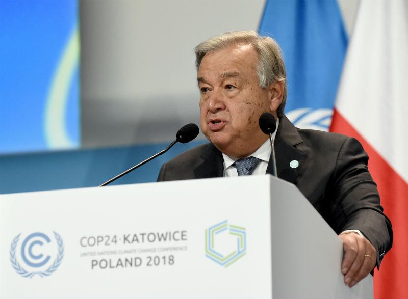 UN-Generalsekretär Antonio Guterres eröffnet die COP24 in Polen