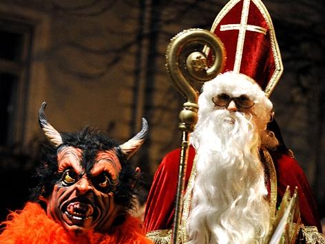 Krampus und Nikolaus