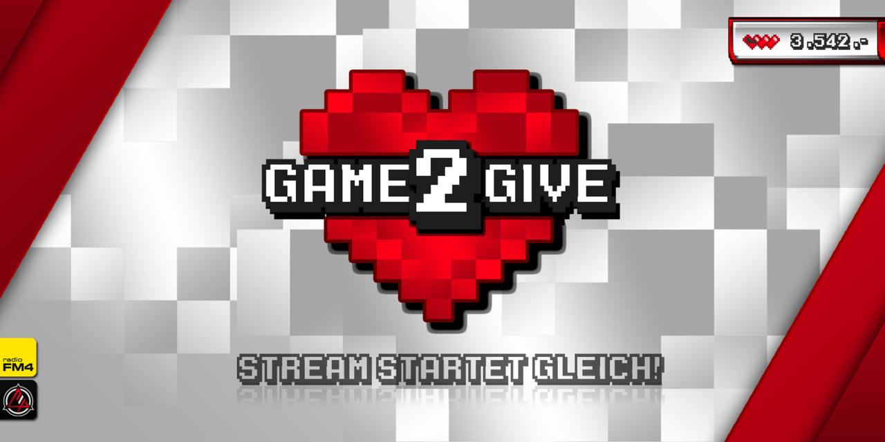 """Das Pausen-Logo von """"Game2Give""""."""