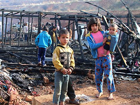 Syrische Flüchtlingskinder in einem Camp im Libanon