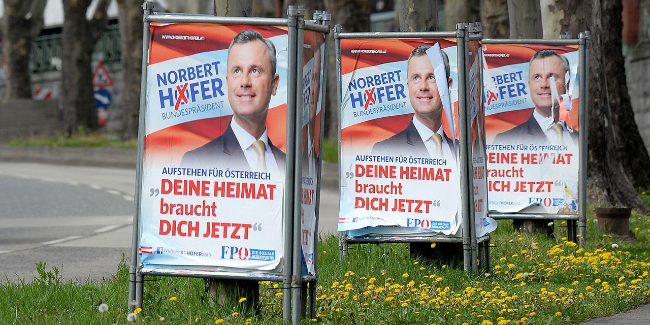Plakate Norbert Hofers zur Bundespräsidentschaftswahl 2016