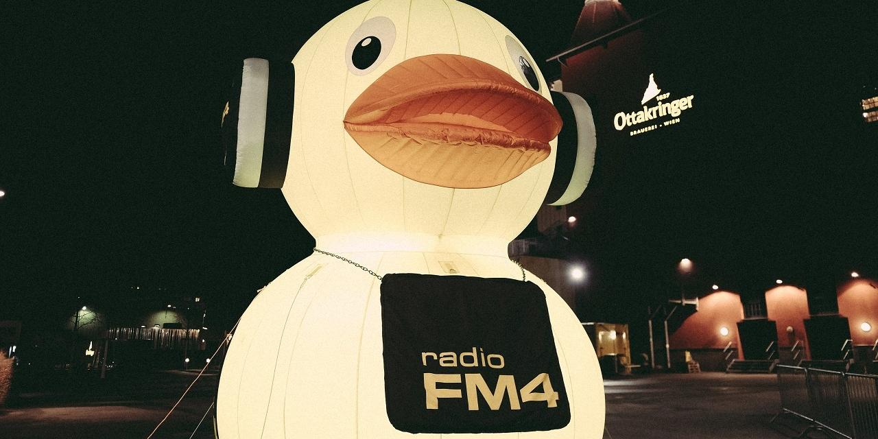 Die FM4 Ente vor der Ottakringer Brauerei beim FM4 Geburtstagsfest