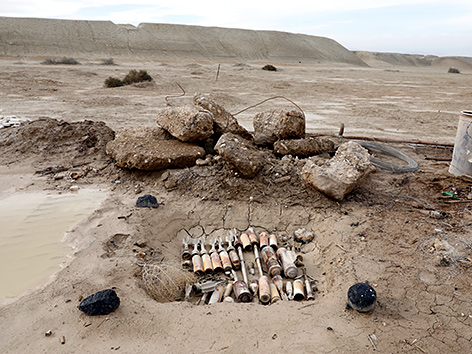 Landminen an der mutmaßlichen Taufstelle Jesu am Jordan