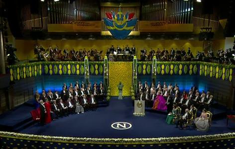 Die Preisträger im Stockholmer Konzerthaus