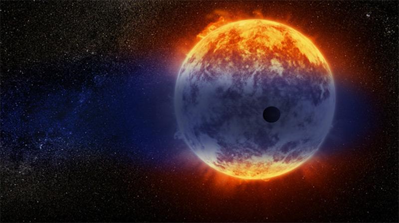 Künstlerische Darstellung: Planet GJ 3470b
