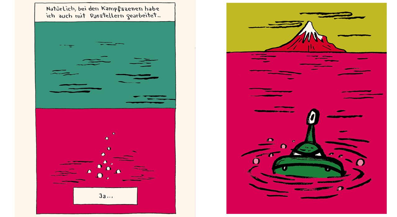 """Gezeichnetes Monster in Buch """"Das Ritual"""""""