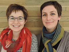 Die Molekularbiologin Julia Auer und Genetikerin Alexandra Schebesta
