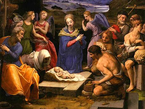 Anbetung der Hirten 1535–1540, Bronzino