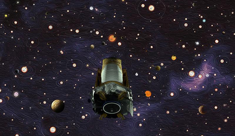 Künstlerische Illustration des Kepler-Teleskops