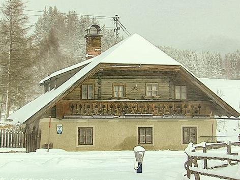 Scharglerkoische – Wohnhaus der Familie Mohr.