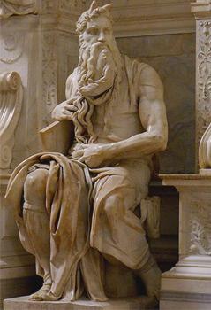 Moses von Michelangelo Buonarroti in San Pietro in Vincoli