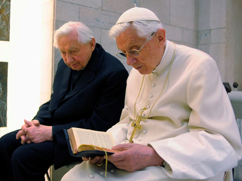 Benedikt XVI. und sein Bruder Georg Ratzinger